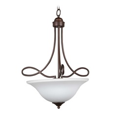 Craftmade Lighting Cordova Old Bronze Pendant Light with Bowl / Dome Shade