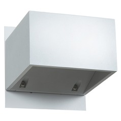 Access Lighting Square White LED Outdoor Wall Light