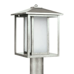 Sea Gull Lighting Hunnington Weathered Pewter LED Post Light