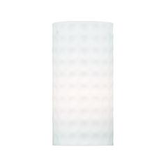Ormi White Cylindrical Art Glass Shade