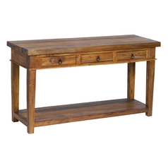 Sterling Lighting Natural Stain on Mahogany Sofa Table
