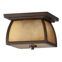Feiss Lighting Wright House Sorrel Brown LED Close To Ceiling Light