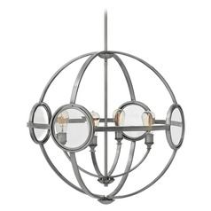 Hinkley Fulham 4-Light Chandelier in Polished Antique Nickel