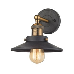 Mid-Century Modern Sconce Antique Brass, Graphite English Pub by Elk Lighting