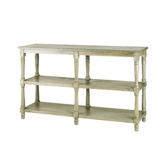 Sofa Table in Antique Silver Wash Finish