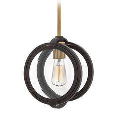 Hinkley Lighting Fulham Buckeye Bronze Pendant Light with Globe Shade