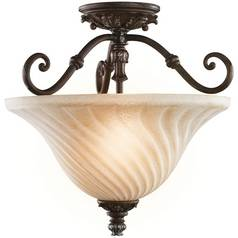 Kichler Lighting Kichler Semi-Flushmount Light with Clear Glass in Legacy Bronze Finish 42514LZ