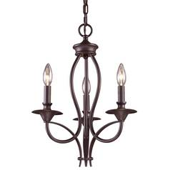 Chandelier in Oiled Bronze Finish