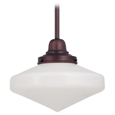 10-Inch Schoolhouse Mini-Pendant Light In Bronze