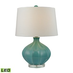 Dimond Lighting Medium Seafoam Glaze LED Table Lamp with Empire Shade