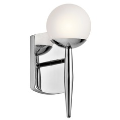 Mid-Century Modern Sconce Chrome Jasper by Kichler Lighting