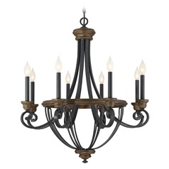 Savoy House Lighting Wickham Whiskey Wood Chandelier