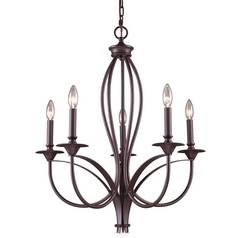 Elk Lighting Chandelier in Oiled Bronze Finish 61032-5