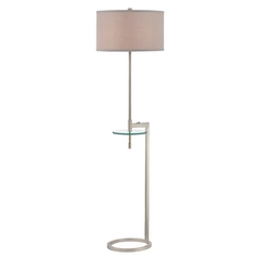 Modern Gallery Tray Lamp with Pewter Shade in Remington Bronze Finish