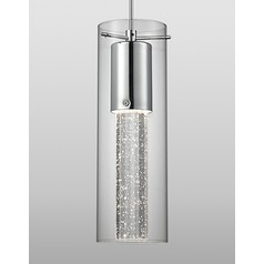 Chrome Mini-Pendant Light in Chrome by Kuzco Lighting