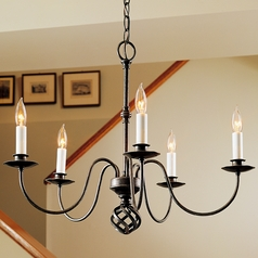 Hubbardton Forge Lighting Ball Basket Natural Iron Chandelier