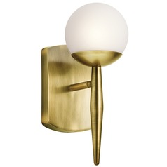 Mid-Century Modern Sconce Brass Jasper by Kichler Lighting