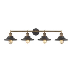 Mid-Century Modern Bathroom Light Antique Brass, Graphite English Pub by Elk Lighting