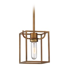 Designers Fountain Uptown Old Satin Brass Mini-Pendant Light
