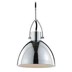 Kuzco Lighting Modern Chrome Pendant Light with Chrome Shade
