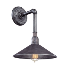 Outdoor Wall Light in Old Silver Finish