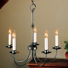 Hubbardton Forge Lighting Simple Lines Natural Iron Mini-Chandelier