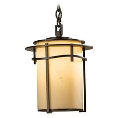 Hubbardton Forge Lighting Exos Mahogany Outdoor Hanging Light