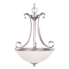 Savoy House Pewter Pendant Light with Bowl / Dome Shade