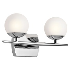 Mid-Century Modern Bathroom Light Chrome Jasper by Kichler Lighting
