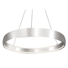 Kuzco Lighting Modern Brushed Silver LED Pendant 3000K 1593LM