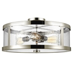 Feiss Lighting Harrow Polished Nickel Semi-Flushmount Light