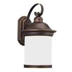 Sea Gull Lighting Hermitage Antique Bronze LED Outdoor Wall Light