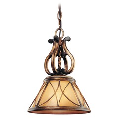 Minka Lighting Mini-Pendant Light with Beige / Cream Glass 4751-206