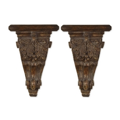 Uttermost Lighting Candle Holder in Chestnut Brown Finish 20613