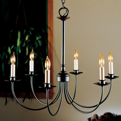 Hubbardton Forge Lighting Simple Lines Black Chandelier