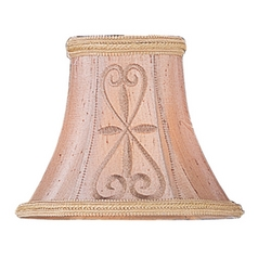 Hand Embroidered Bell Lamp Shade with Clip-On Lamp Shade Assembly