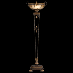 Fine Art Lamps Castile Antiqued Iron with Gold Leaf Torchiere Lamp