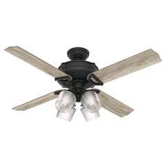 Hunter 52-Inch Natural Iron LED Ceiling Fan with Light with Hand Held Remote