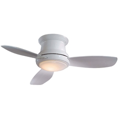 Minka Aire Fans 52-Inch Hugger Ceiling Fan with Three Blades and Light Kit F519-WH