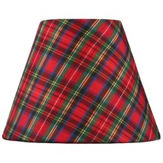 Plaid Empire Lamp Shade with Clip-On Lamp Shade Assembly