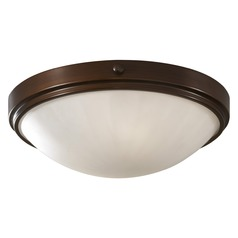 Feiss Lighting Perry Heritage Bronze LED Flushmount Light