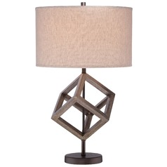 Minka Table Lamp with Drum Shade