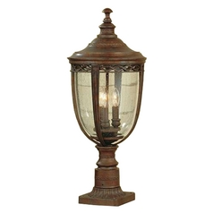Post Light with Clear Glass in British Bronze Finish