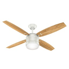 Hunter 52-Inch Fresh White LED Ceiling Fan with Light with Hand Held Remote