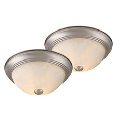 Builder Twin Packs Brushed Nickel Flushmount Light by Vaxcel Lighting