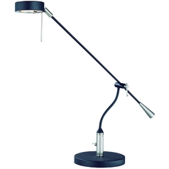 Lite Source Lighting Alogene Black Swing Arm Lamp
