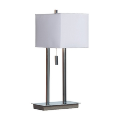 Modern Accent Lamp in Chrome Finish