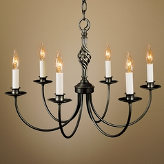 Hubbardton Forge Lighting Twist Basket Natural Iron Chandelier