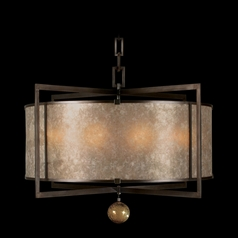Fine Art Lamps Singapore Moderne Brown Patinated Bronze Pendant Light with Drum Shade