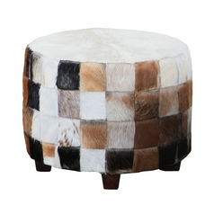 Sterling Lighting Cow Hide Ottoman